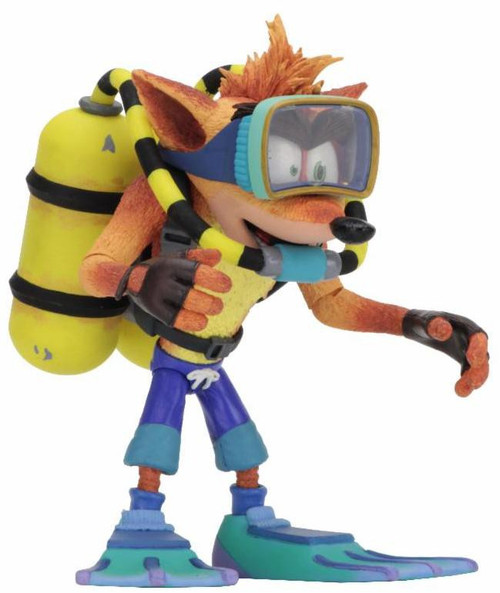 NECA Crash Bandicoot Deluxe Action Figure [Scuba Gear]