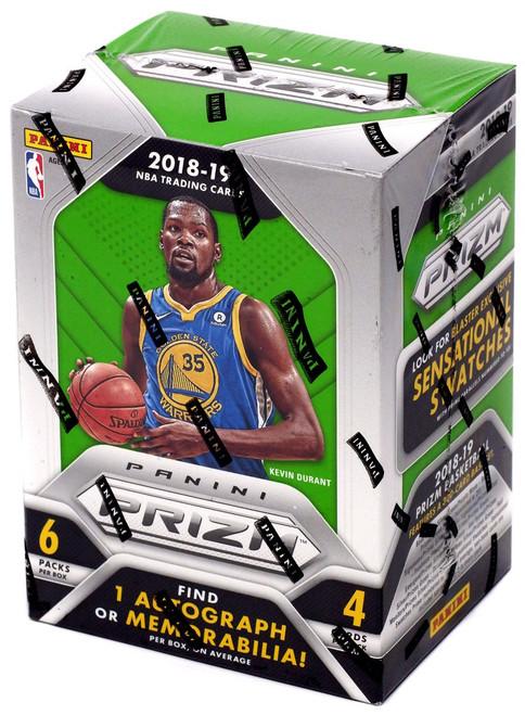NBA Panini 2018-19 Prizm Basketball Trading Card BLASTER Box [6 Packs, 1 Autograph OR Memorabilia Card]