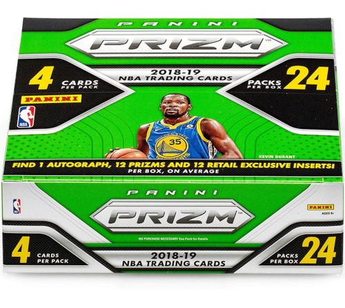 NBA Panini 2018-19 Prizm Basketball Trading Card RETAIL Box [24 Packs, 1 Autograph & 12 Prizms]