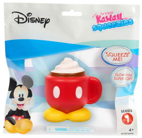 Disney The Original Kawaii Squeezies Series 1 Mickey Coffee Squeeze Toy