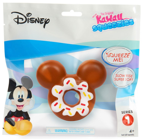 Disney The Original Kawaii Squeezies Series 1 Mickey Donut Squeeze Toy
