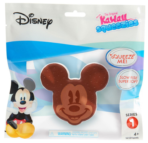 Disney The Original Kawaii Squeezies Series 1 Mickey Ice Cream Sandwich Squeeze Toy