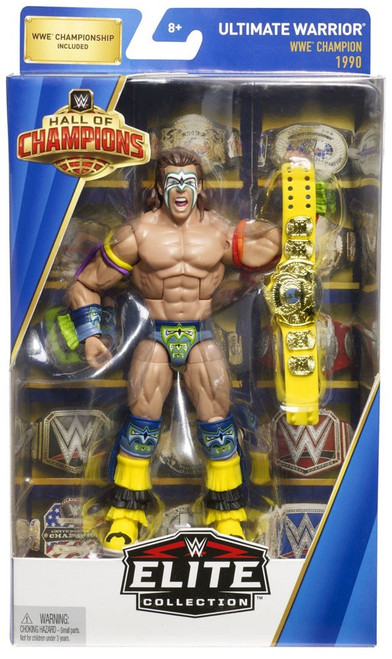 WWE Wrestling Elite Hall of Champions Ultimate Warrior Exclusive Action Figure
