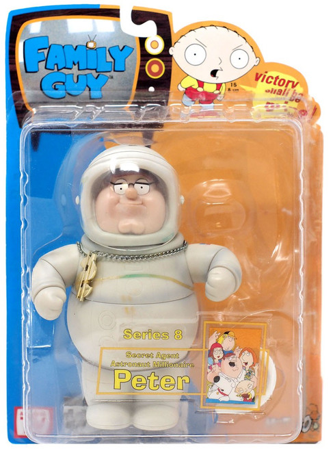 Family Guy Series 8 Peter Action Figure [Secret Agent Astronaut Millionaire, No Cowboy Hat]