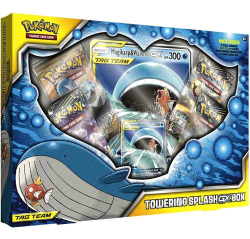 Pokemon Trading Card Game Tag Team Towering Splash-GX Box [4 Booster Packs, Promo Card & Oversize Card]