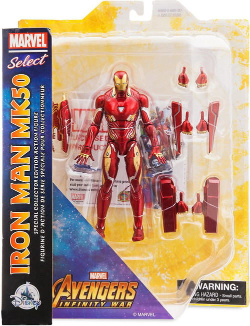 Disney Avengers: Inifinity War Marvel Select Iron Man MK50 Exclusive Action Figure