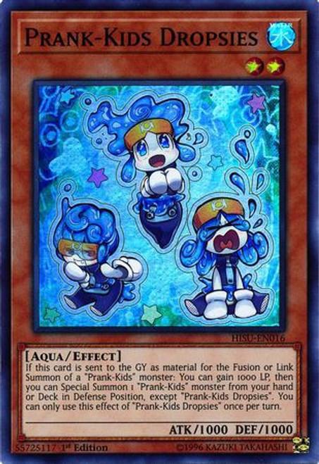 YuGiOh Hidden Summoners Super Rare Prank-Kids Dropsies HISU-EN016