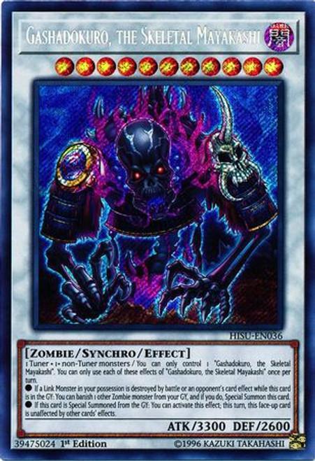 YuGiOh Hidden Summoners Secret Rare Gashadokuro, the Skeletal Mayakashi HISU-EN036