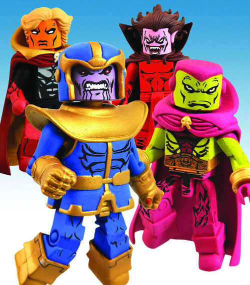 Minimates Infinity Gauntlet Exclusive Mini Figure 4-Pack [Adam Warlock, Drax the Destroyer, Thanos & Mephist]