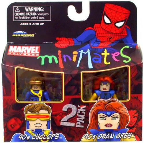 Marvel Universe Minimates Series 34 90s Cyclops & 90s Jean Grey Minifigure 2-Pack
