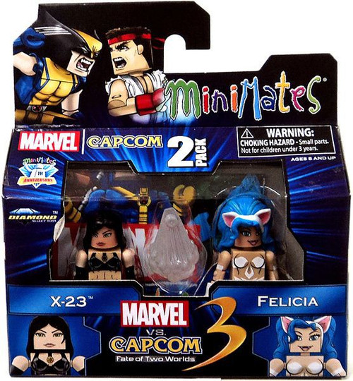 Minimates Marvel Vs Capcom: 3 Series 3 X-23 Vs. Felicia Mini Figure 2-Pack