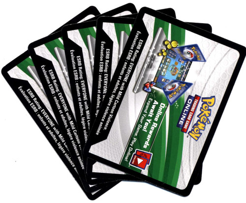 Pokemon Sun & Moon Lot of 5 Dragon Majesty Online Code Card Code Cards