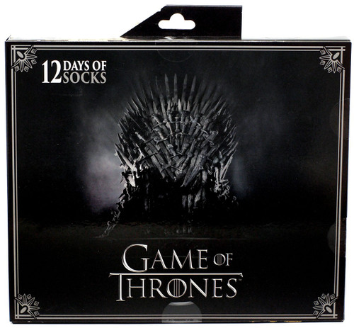 Game of Thrones Mens 12 Days of Socks 12-Pack [Shoe Size 6 - 12]
