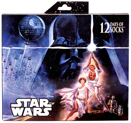 12 Days of Socks Mens Star Wars 12-Pack [Shoe Size 6-12, 2018]