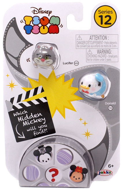 Disney Tsum Tsum Series 12 Lucifer & Donald 1-Inch Minifigure 3-Pack