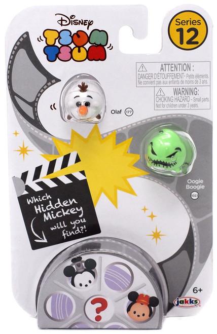 Disney Tsum Tsum Series 12 Olaf & Oogie Boogie 1-Inch Minifigure 3-Pack