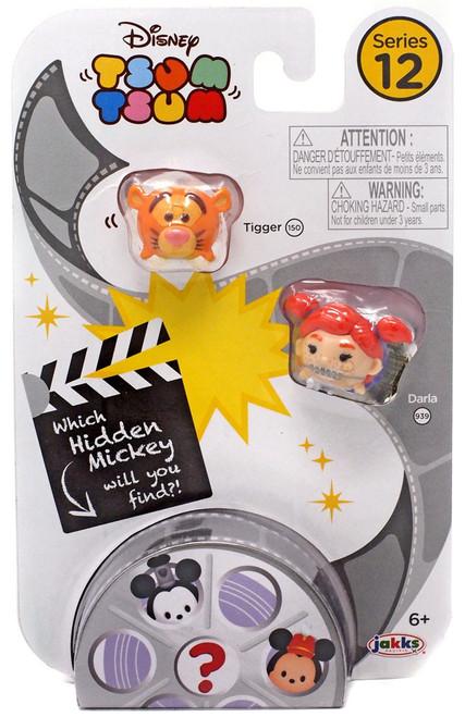 Disney Tsum Tsum Series 12 Tigger & Darla 1-Inch Minifigure 3-Pack