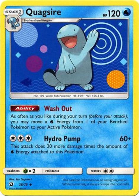 Pokemon Trading Card Game Dragon Majesty Uncommon Quagsire #26
