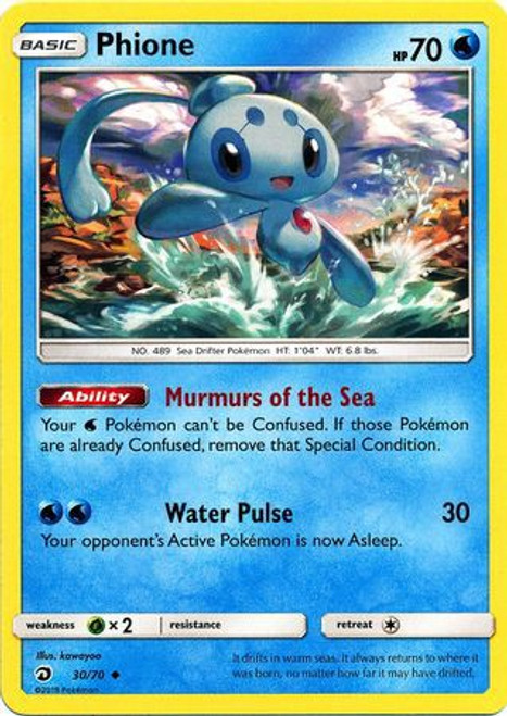 Pokemon Trading Card Game Dragon Majesty Uncommon Phione #30