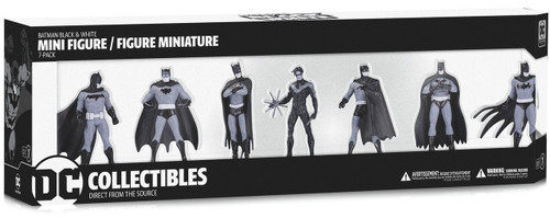 Black & White Batman Set 1 3.75-Inch Mini Statue Box [7 Statues!]