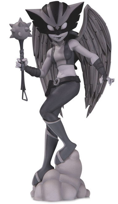 DC Artist Alley Hawkgirl 6.9-Inch PVC Collector Statue [Chrissie Zullo, Black & White Variant]
