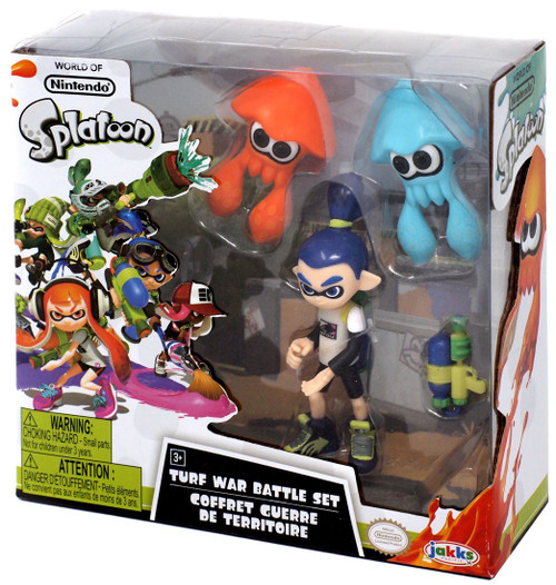 Nintendo Splatoon Turf War Battle Set Exclusive Figure 3-Pack [Blue Inkling Boy, Orange & Blue Squid]