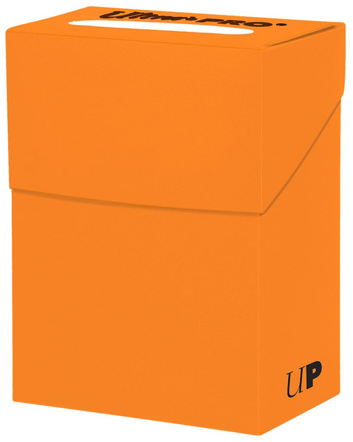 Ultra Pro Card Supplies Pumpkin Orange Deck Box