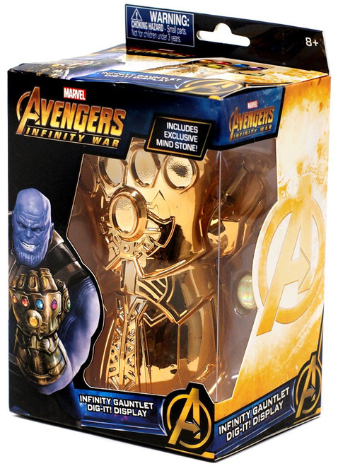 Marvel Avengers Infinity War Infinity Gauntlet Dig-It! Display [with Mind Stone]