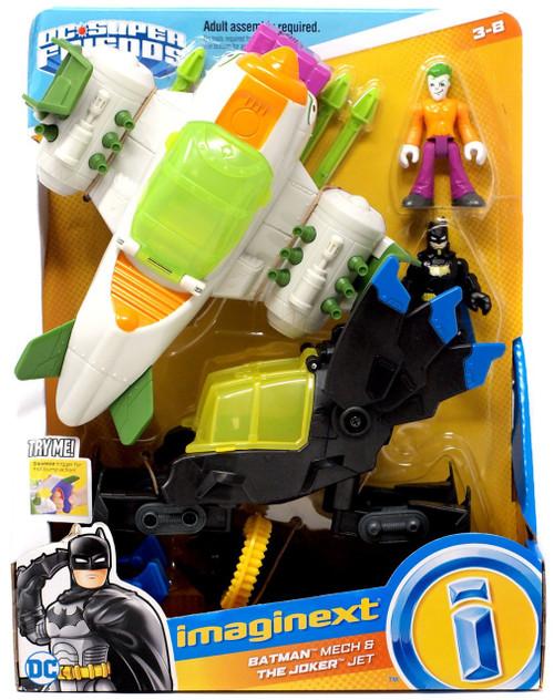 Fisher Price DC Super Friends Imaginext Batman Mech & Joker Jet Figure Set [2018]