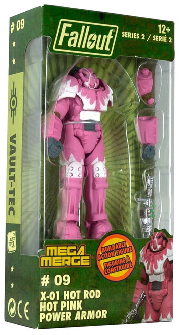 Fallout Mega Merge Series 2 X-01 Hot Rod Hot Pink Power Armor Exclusive Buildable Figure #09