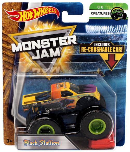 Hot Wheels Monster Jam Black Stallion Diecast Car #6/6 [Creatures]