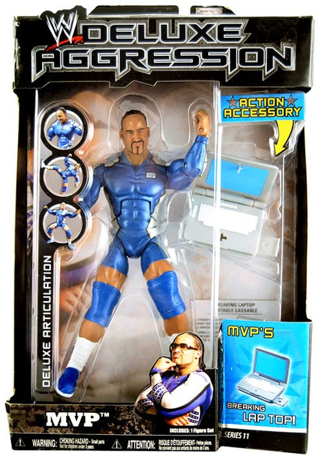 WWE Wrestling Deluxe Aggression Series 11 MVP Action Figure [Damaged Package]