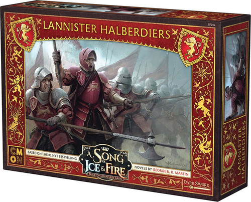 A Song of Ice & Fire Lannister Halberdiers Unit Box Tabletop Miniatures Game