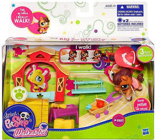 Littlest Pet Shop Walkables Horse Playset #2257 [Wagon, Damaged Package]