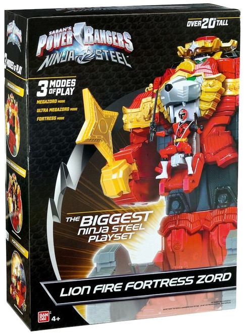 Power Rangers Ninja Steel Lion Fire Fortress Zord Exclusive Playset [Damaged Package]