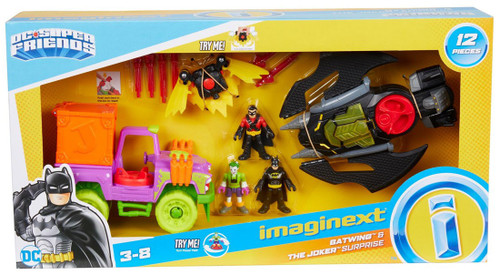Fisher Price DC Super Friends Imaginext Batwing & The Joker Surprise Figure Set