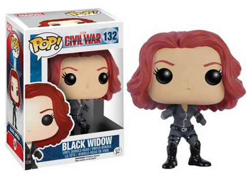Funko Civil War POP! Marvel Black Widow Vinyl Bobble Head #132 [Civil War, Damaged Package]