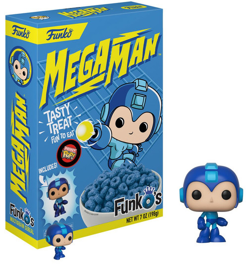 FunkO's Mega Man Exclusive 7 Oz. Breakfast Cereal [Damaged Package]