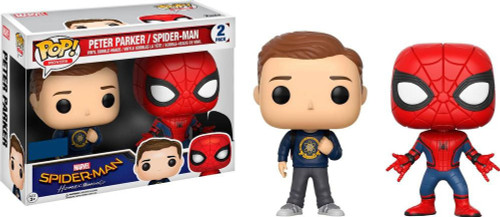 Funko Spider-Man Homecoming POP! Marvel Peter Parker & Spiderman Exclusive Vinyl Bobble Head 2-Pack [Damaged Package]