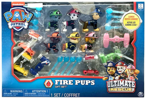 Paw Patrol Ultimate Rescue Fire Pups Chase, Zuma, Rubble, Skye, Rocky & Marshall Exclusive Gift Set Figure 6-Pack