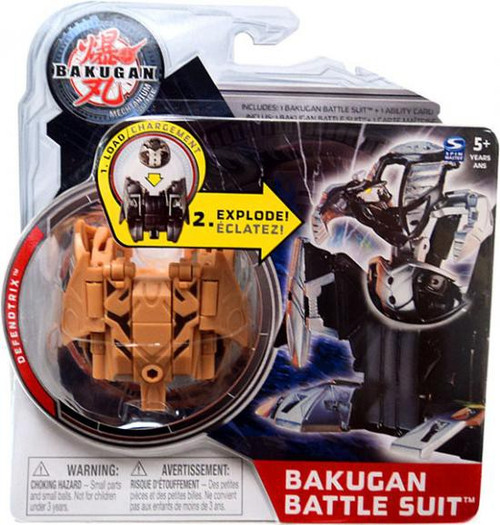Bakugan Mechtanium Surge Defendtrix Battle Suit [Brown]