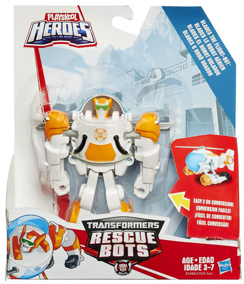 Transformers Playskool Heroes Rescue Bots Blades the Flight Bot Action Figure [Rescan, 2015, Damaged Package]