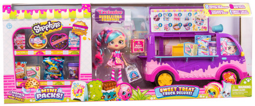 Shopkins Small Mart Season 10 Mini Packs! Sweet Treat Truck Deluxe Playset [with Bubbleisha]