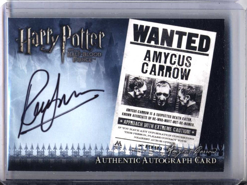 Harry Potter and the Half-Blood Prince Ralph Jneson as Amycus Carrow Authentic Autograph Card