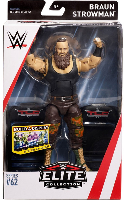 WWE Wrestling Elite Collection Series 62 Braun Strowman Action Figure [TLC 2018 Chairs]