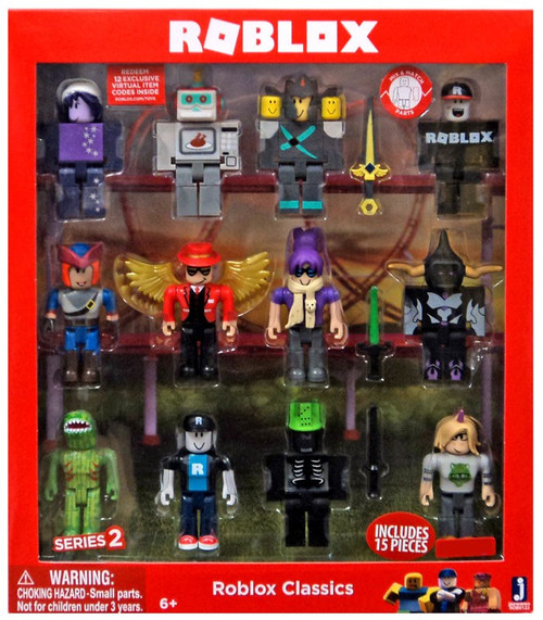 Series 2 Roblox Classics Exclusive Action Figure 12-Pack [Includes 12 Online Item Codes!, Damaged Package]