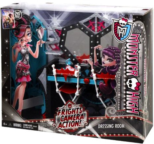 Monster High Frights, Camera, Action Dressing Room 10.5-Inch Doll Playset [Damaged Package]