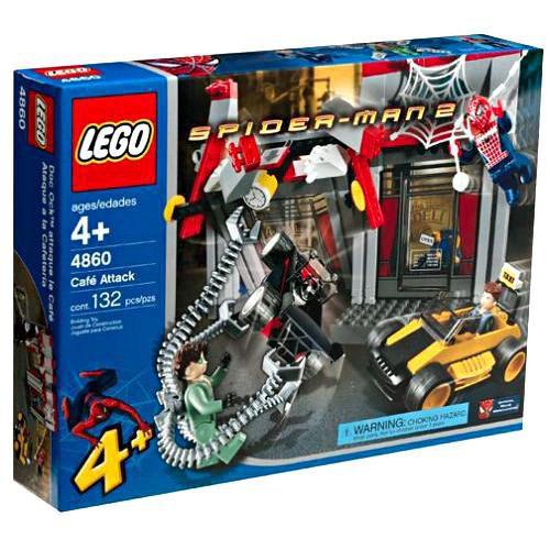 LEGO Spider-Man 2 Cafe Attack Set #4860 [Heavy Shelf Wear]