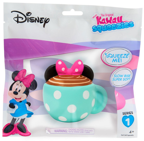 Disney The Original Kawaii Squeezies Series 1 Minnie Teacup Squeeze Toy