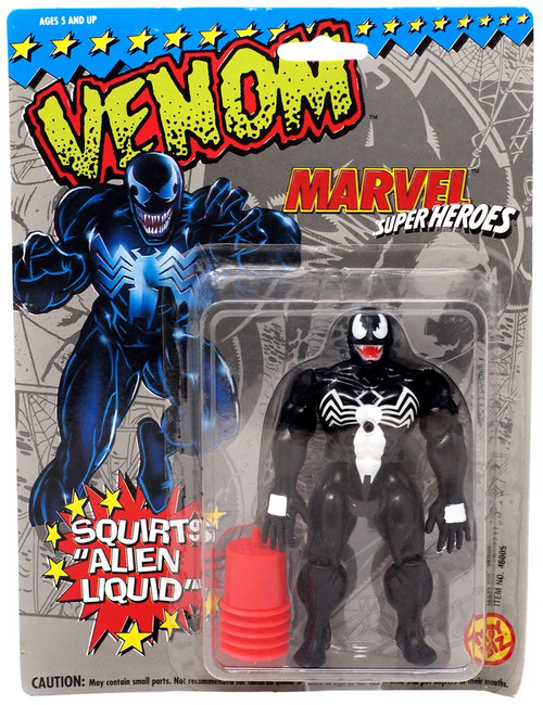 "Marvel Super Heroes Venom Action Figure [Squirts ""Alien Liquid""] [Shows Wear From Storage]"